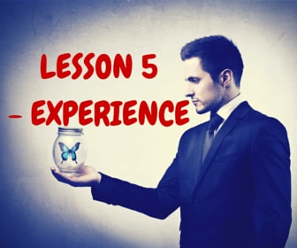 Lesson 5 - Experience
